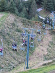 the chairlift back up from the luge