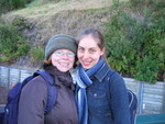 Miriam McGeorge & Esther Jansen (in the background you see the luge track)