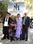 Me, Nana, Mum and Grandad in front of the other side of that Macquarie Uni sign again.